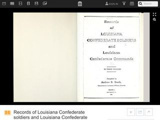 Records of Louisiana Confederate soldiers and Louisiana Confederate commands: Volume 1