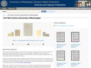 Civil War Archive (University of Mississippi Libraries Digital Collections)