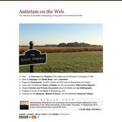 The Battle of Antietam on the Web