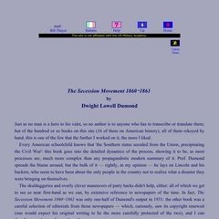 The Secession Movement of 1860-1861     By Dwight Lowell Dumond