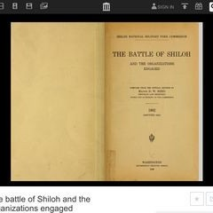 The Battle of Shiloh and the Organizations Engaged