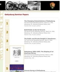 Papers of the Annual Gettysburg National Military Park Seminar