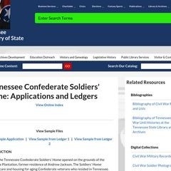 Ledgers and applications from Tennessee Confederate Soldiers' Home