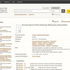Documents related to the American Missionary Association