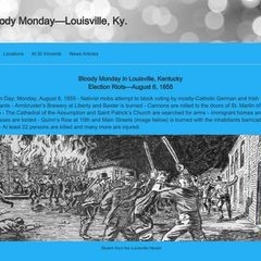 Bloody Monday Know Nothing Riot Louisville