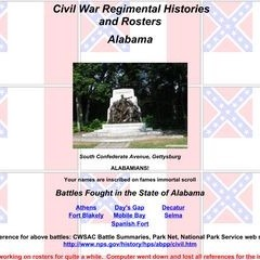 Civil War Regimental Histories and Rosters: Alabama
