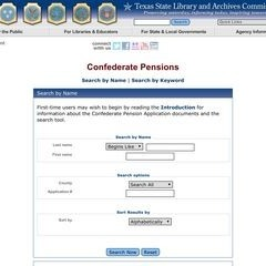 Texas State Library and Archives Commission/Confederate Pensions