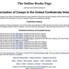 Books Listing United Confederate Veterans Camps