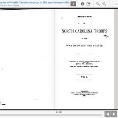 Roster of North Carolina Troops in the War Between the States / VOLUME 1