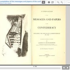 A Compilation of the Messages and Papers of the Confederacy : Including the Diplomatic Correspondence, 1861-1865 VOLUME 2