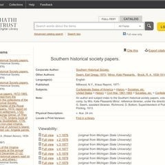 Southern Historical Society Papers/Volumes 1-43 (1876-1920)