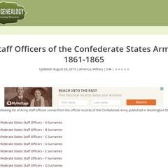 Confederate Army Staff Officers
